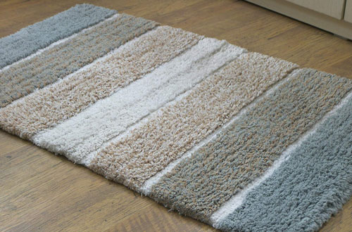 Chardin Home Pure Cotton 2-Piece Cordural Stripe Bath Rug Sets