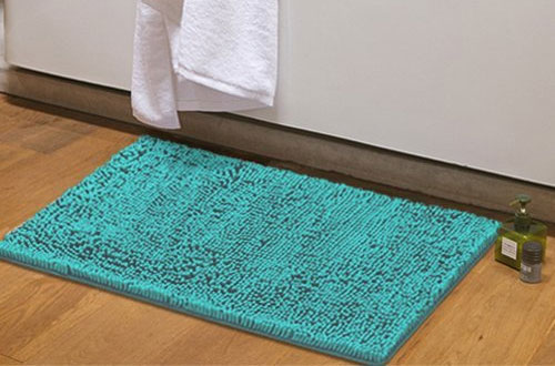 MAYSHINE Non-Slip Bathroom Shower Mat with Soft Microfibers
