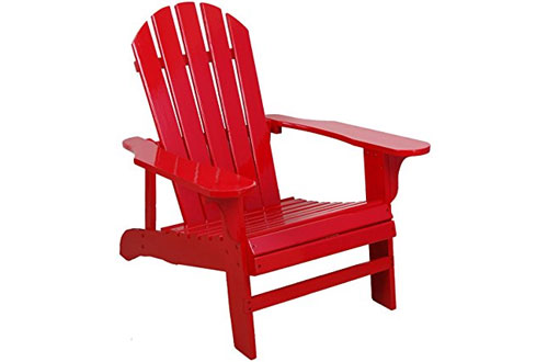 Leigh Country TX 94050 Durable Wood Adirondack Chair