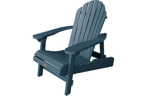 Highwood Hamilton Folding Reclining Adirondack Chair for Adults