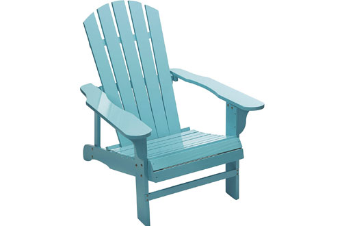 Kotulas Classic Turquoise Painted Blue Wood Adirondack Chair