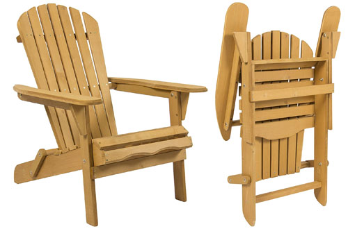 Best Outdoor Foldable Wooden Adirondack Chair for Garden