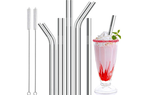 Stainless Steel Straws & Reusable Metal Drinking Straws