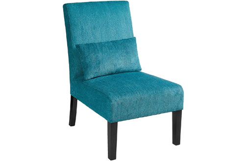 Red Hook Furniture Marisol Fabric Caribbean Blue Accent Chair W/ Back Pillow