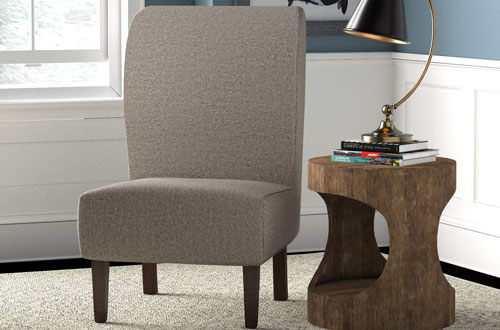 Stone and Beam Lummi Modern Grey Armless Accent Chair