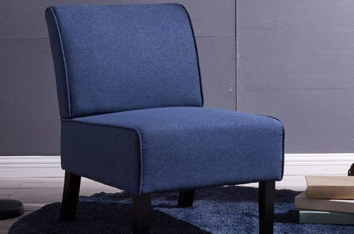 EBS My Furniture Blue Accent Chair for Bedroom, Office or Meeting Room