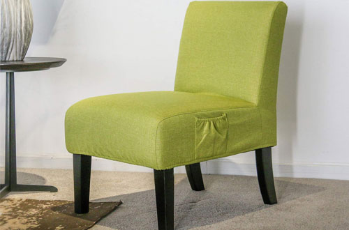 Altrobene Green Accent Chair Slipper for Living Room Bedroom