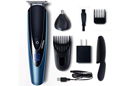 Solimpia Mens' Cordless Beard Trimmer & Body Hair Trimmer