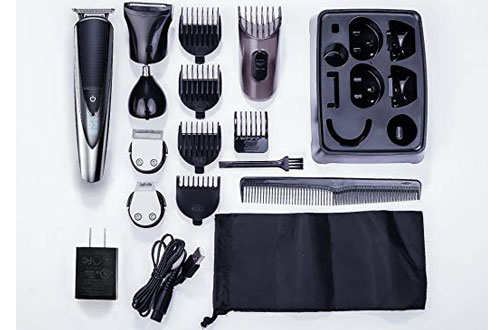 Hatteker Mens' Beard Trimmer Kit Body Mustache Trimmer