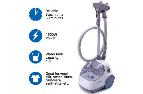PurSteam Elite Powerful Fabric Garment Steamer with Brush and Hanger