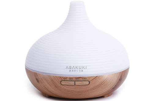 ASAKUKI 300ML Premium Essential Oil Diffuser - Natural Home Fragrance Diffuser