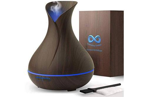 Dark Wood Diffuser for Essential Oils - 400ml- Super High Aroma Output