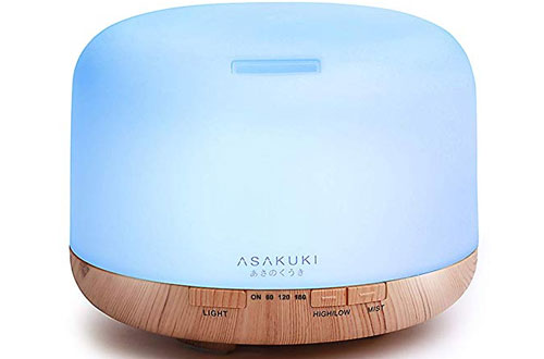 ASAKUKI 500ml Premium Essential Oil Diffuser