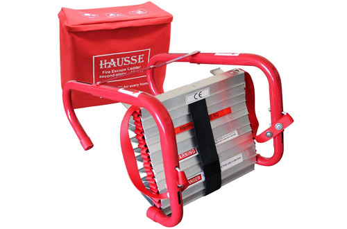 Hausse Retractable 13-Feet Fire Escape Ladder 2 Story