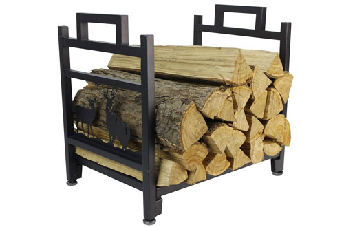 INNO Stage Firewood Log Rack - Wrought Iron Wood Holder