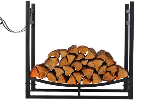 Patio Watcher Indoor Outdoor Heavy Duty Steel Fire Wood Storage Rack