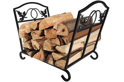 Fireplace Log Holder Wrought Iron Fire Wood Stove Stacking Rack