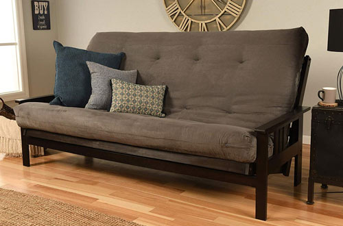 Jerry Sales Queen Full Size Wood Futon Frame with Mattress
