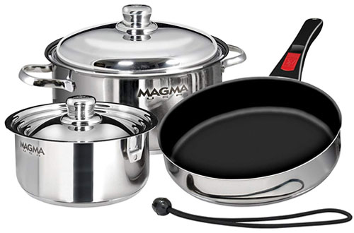 Magma Stainless Steel Induction Cookware Set W/ Ceramica Non-Stick