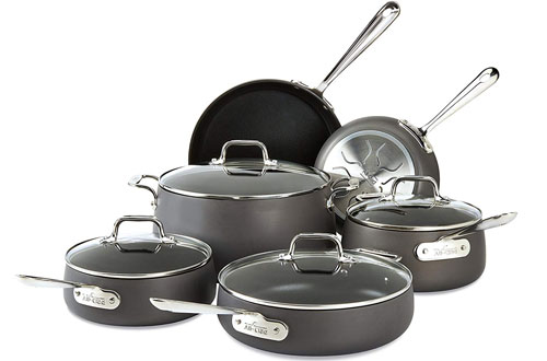 All-Clad Hard Anodized Nonstick Aluminum Cookware Set - 10 Pieces