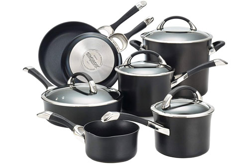 Circulon Symmetry Nonstick 11-Piece Cast Iron Cookware Set