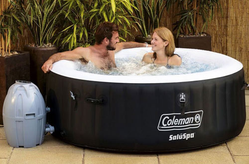 Coleman 71 by 26 4-Person Inflatable Spa Hot Tub