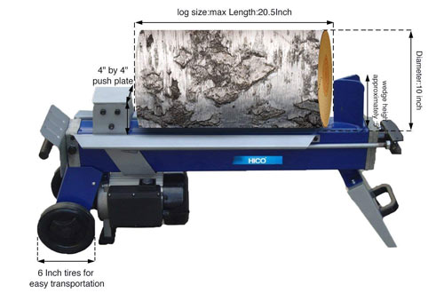 HICO-LSP0552 5 Ton Electric Wood Splitter