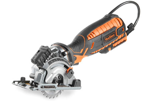 VonHaus 5.8 Amp Compact Circular Saw for Cutting Metal, Wood and Plastic