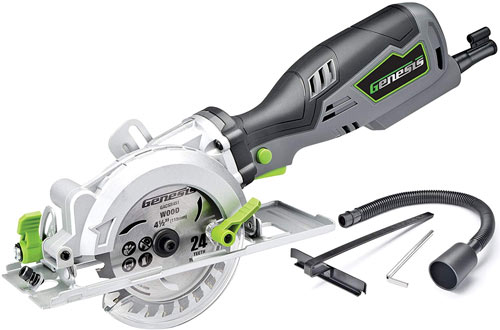 Genesis GCS545C Control Grip Compact Circular Saw with Vacuum Adapter