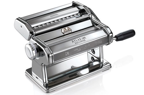 Marcato 8341 Atlas Pasta Machine Maker with Pasta Cutter, Hand Crank and Instructions