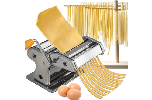 OxGord Stainless Steel Kitchen Manual Pasta Maker Machine