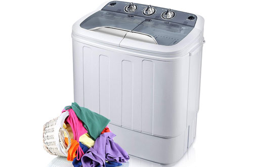Merax Portable Mini Compact Twin Tub Washer Machine with Wash & Spin Cycle