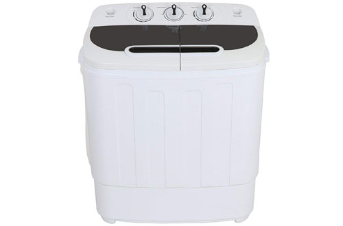 ZENY Portable Compact Mini Twin Tub Washing Machine -  Lightweight Small Laundry Washer