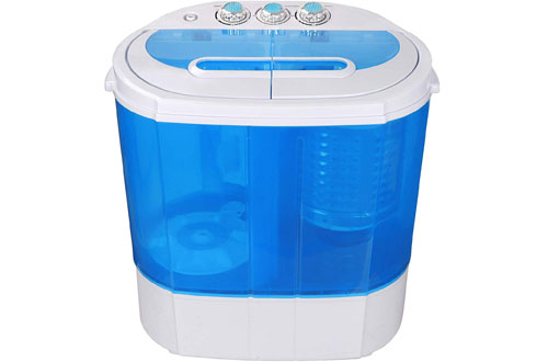 SUPER DEAL Portable Compact Washing Machine with Washer & Spinner
