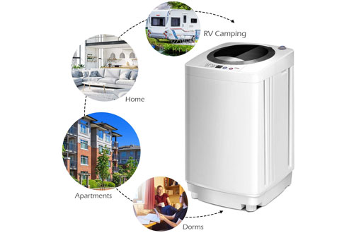 Giantex Portable Compact Washing Machine and Spinner with Drain Pump