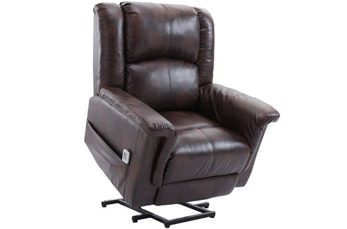 Esright Power Wall Hugger PU Leather Electric Recliner