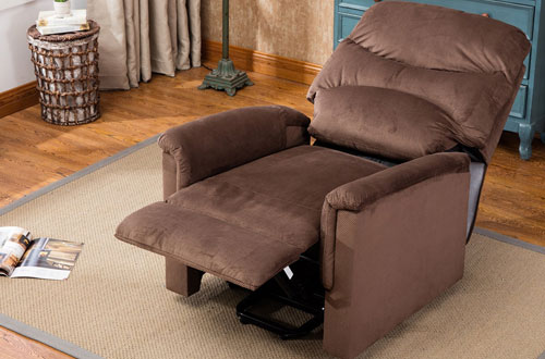 BONZY Chocolate Microfiber Power Lift Recliner