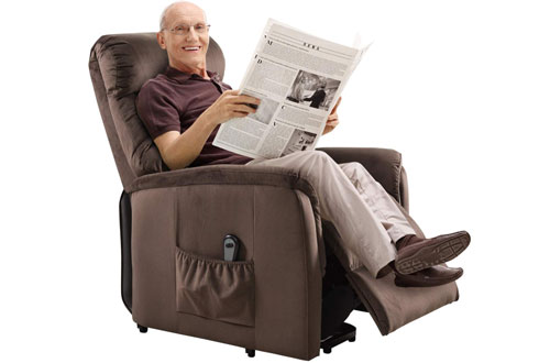 Giantex Soft and Warm Fabric Power Lift Chair Recliner for the Elderly with Remote Control