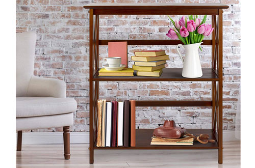 Casual Home Shelf Wood Bookcase