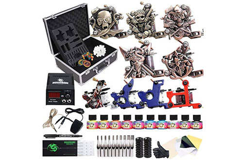 Starter Beginner Complete Tattoo Machine Kit with Case