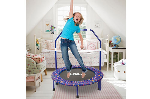 LBLA Small Trampoline for Kids with Mini Foldable Bungee Rebounder