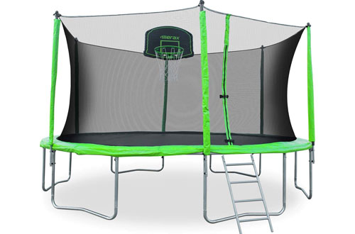 Merax 12 14 Ft Round Trampoline with Safety Enclosure and Ladder