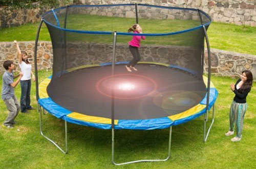Bounce Pro 12-Inch Kids Trampoline with Flash Light Zone