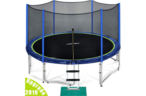 Zupapa Toddler Trampoline with Enclosure Net and Poles