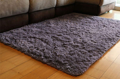 PAGISOFE Soft Fluffy Shaggy Area Shag Solid Personalized Door Rugs