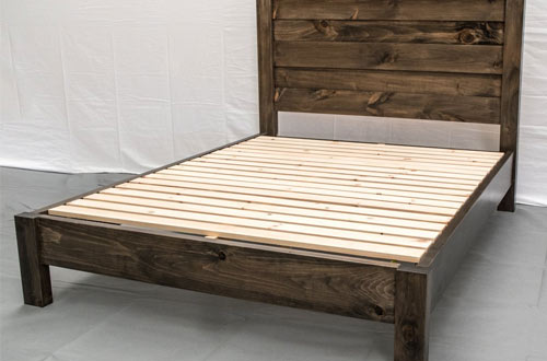 Rustic Farmhouse Reclaimed Wood Bed Frame from Queen