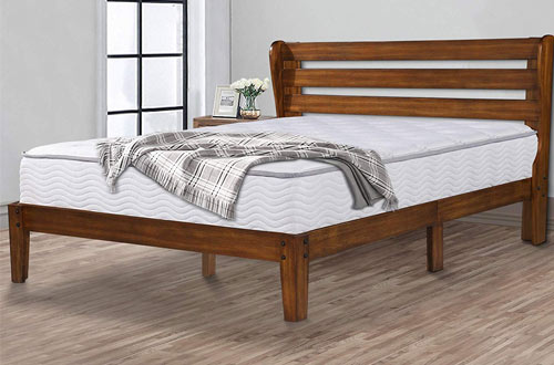 "Ecos Living 14"" High Rustic Solid Wood Platform Bed"