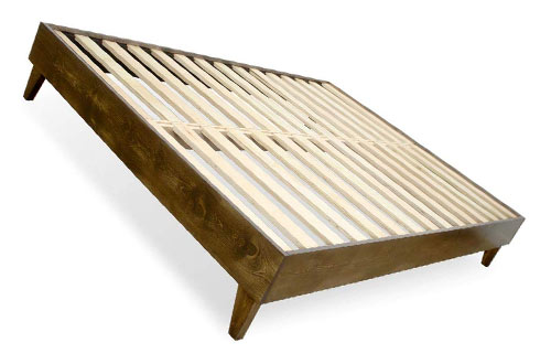 eLuxurySupply King Wood Bed Frame – Made in the USA