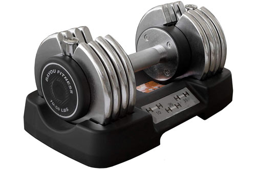 Bayou Fitness Steel Adjustable Dumbbell
