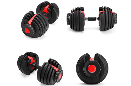 Popsport Standard Adjustable Dumbbell Sets with Handle and Weight Plate